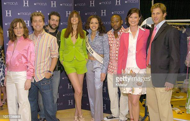 Amy Carlson Lance Bass Joey Fatone Carol Alt Miss USA Susie Castillo Omar Epps Meredith Phillips and Ian McKee wearing H Hilfiger Spring 2004