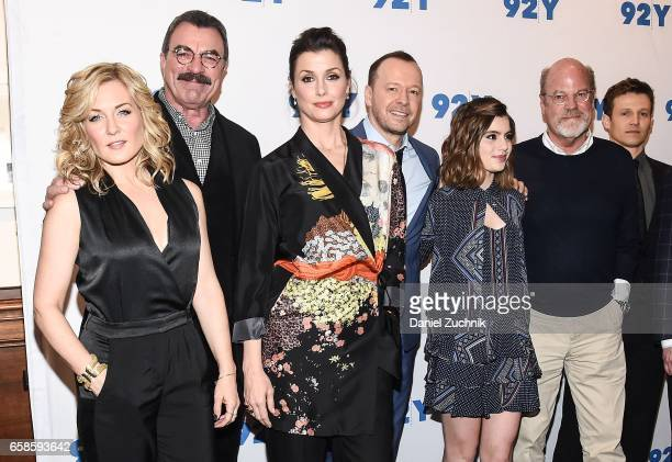 Amy Carlson Tom Selleck Bridget Moynahan Donnie Wahlberg Sami Gayle Kevin Wade and Will Estes attend the Blue Bloods 150th episode celebration at 92Y...