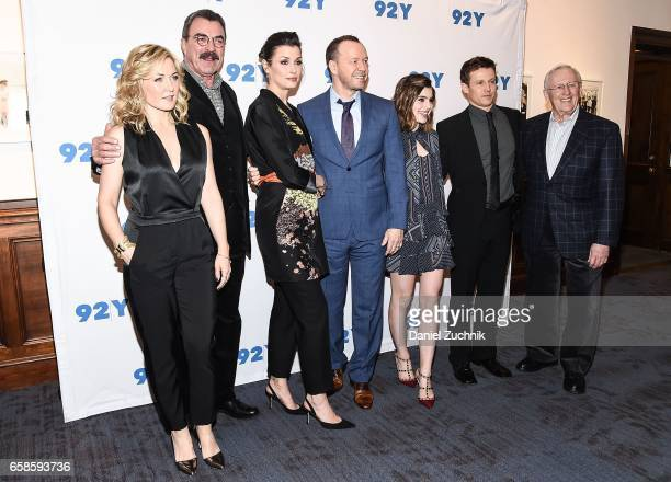 Amy Carlson Tom Selleck Bridget Moynahan Donnie Wahlberg Sami Gayle Will Estes and Kevin Wade attend the Blue Bloods 150th episode celebration at 92Y...