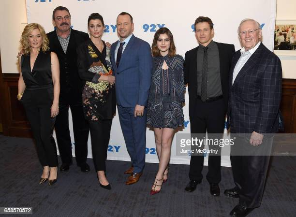 Amy CarlsonTom SelleckBridget MoynahanDonnie WahlbergSami GayleWill Estes and Len Cariou attend the Blue Bloods 150th Episode Celebration at 92nd...
