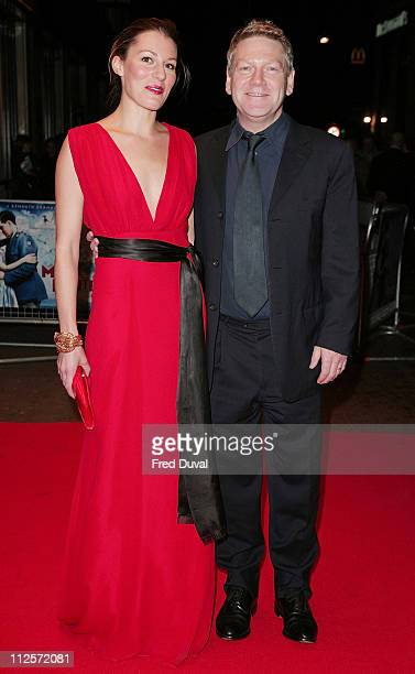 Amy Carson and Kenneth Branagh attend 'The Magic Flute' UK Premiere at the Odeon West End on November 26 2007 in London England