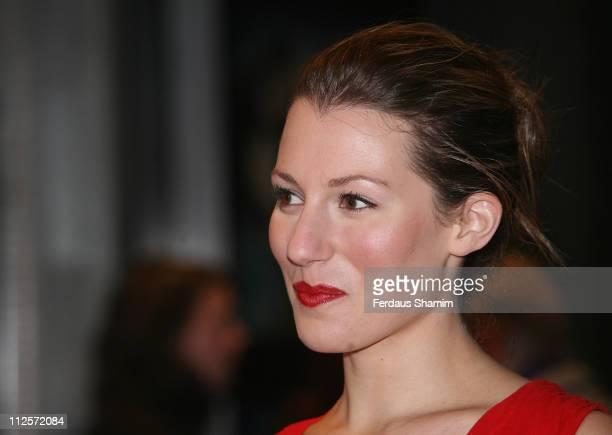 Amy Carson arrives for 'The Magic Flute' UK charity Premiere held at the Odeon West End on November 26 2007 in LondonEngland