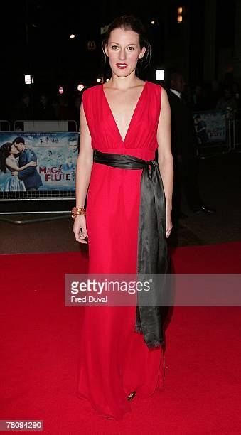 Amy Carson attends 'The Magic Flute' UK Premiere at the Odeon West End on November 26 2007 in London England