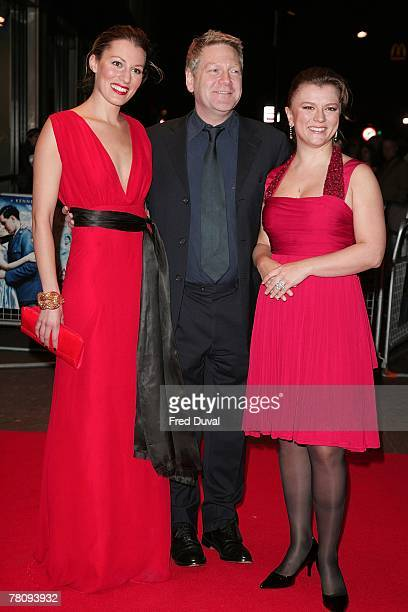Amy Carson Kenneth Branagh and Lyubov Petrova attends 'The Magic Flute' UK Premiere at the Odeon West End on November 26 2007 in London England