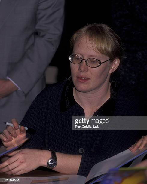 Amy Carter attends book party for 'The Little Baby Snoogle Fleejer' on December 13 1995 at Barnes and Noble in New York City