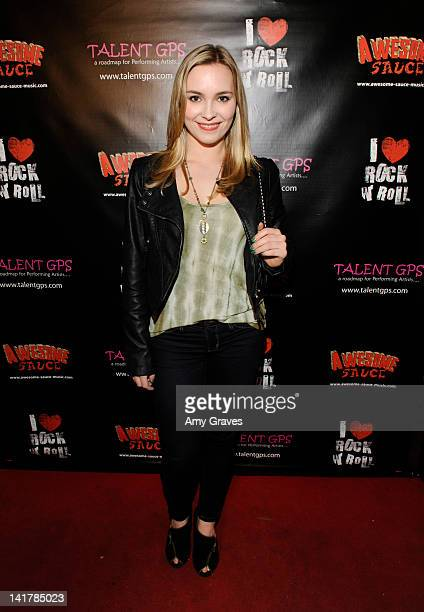 Amy Castle attends the Shamrock and Roll Concert for St. Jude's Children's Hospital on March 17, 2012 in Los Angeles, California.