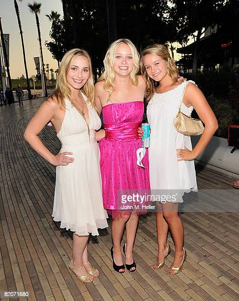Amy Castle Greer Grammer and Ella Sinise attend Jillian Clare's 16th Birthday Party aboard the Harbor Breeze Yacht 'The Christopher' at Rainbow...