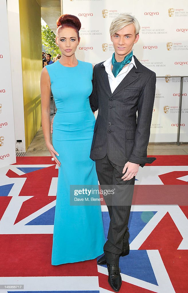 Amy Childs (L) and Harry Derbidge arrive at the Arqiva British Academy Television Awards 2012 at Royal Festival Hall on May 27, 2012 in London, England.
