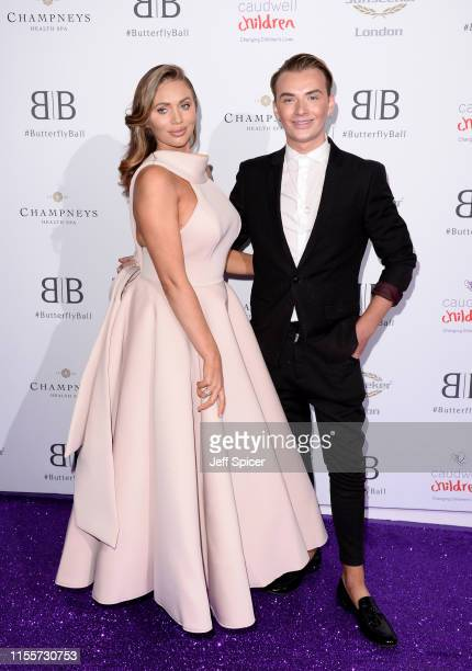 Amy Childs and Harry Derbidge attend the Caudwell Children Butterfly Ball 2019 at The Grosvenor House Hotel on June 13 2019 in London England