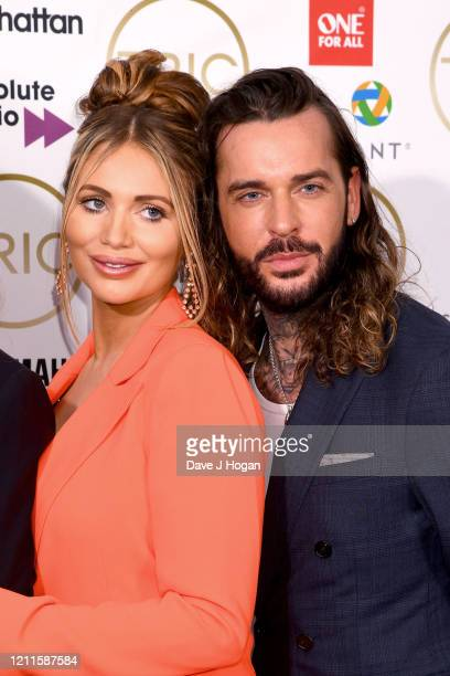 Amy Childs and Pete Wicks during the TRIC Awards 2020 at The Grosvenor House Hotel on March 10 2020 in London England