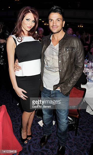 Amy Childs and Peter Andre arrive at the TRIC Television and Radio Industries Club Awards at The Grosvenor House Hotel on March 13 2012 in London...