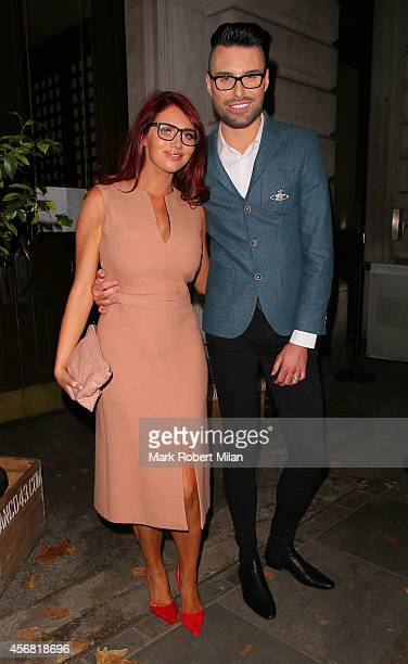 Amy Childs and Rylan Clark attending the Specsavers Spectacle Wearer of the Year awards 2014 on October 7 2014 in London England