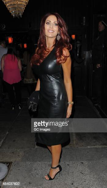 Amy Childs arrives at Sugar Hut in Brentwood for their 10th Anniversary celebrations on August 23 2014 in London England