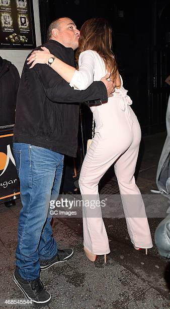 Amy Childs arrives at Sugar Hut in Brentwood on April 3 2015 in Essex England