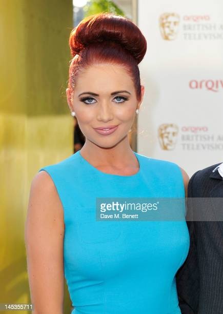 Amy Childs arrives at the Arqiva British Academy Television Awards 2012 at Royal Festival Hall on May 27 2012 in London England