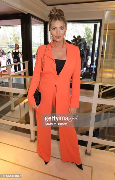 Amy Childs arrives at the TRIC Awards 2020 at The Grosvenor House Hotel on March 10 2020 in London England