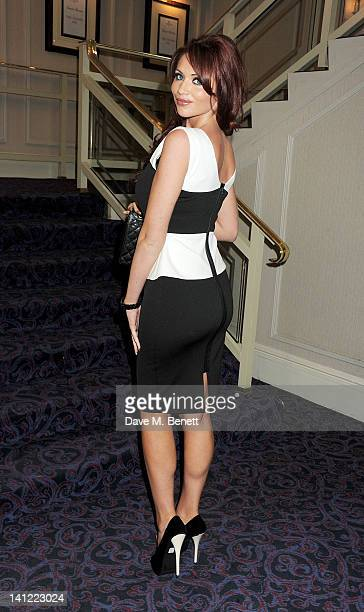Amy Childs arrives at the TRIC Television and Radio Industries Club Awards at The Grosvenor House Hotel on March 13 2012 in London England