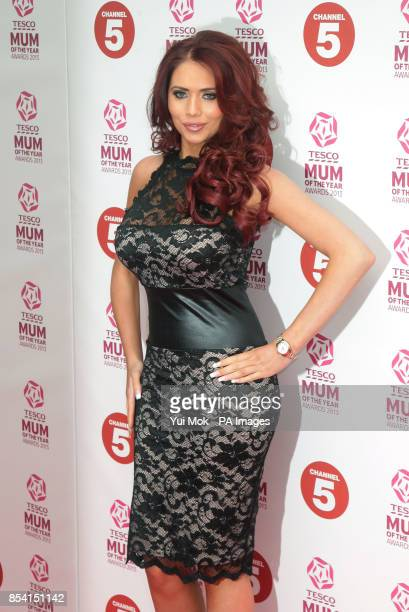 Amy Childs arriving for the Tesco Mum of the Year Awards at The Savoy hotel in central London