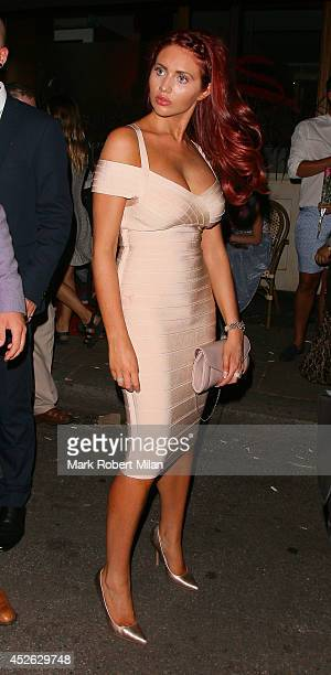 Amy Childs at the Sanctum Hotel on July 24 2014 in London England