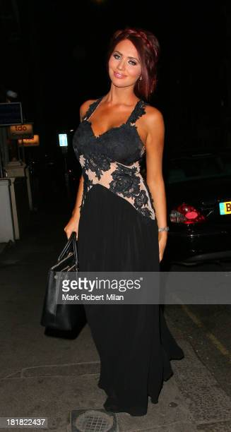 Amy Childs attending the launch of new fashion brand KEY at Vanilla on September 25 2013 in London England