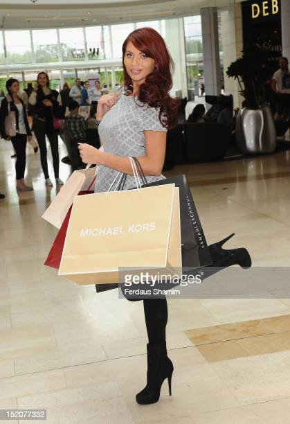Amy Childs attends a Flash Mob aranged by Battlefront's Myles at Westfield on September 16 2012 in London England
