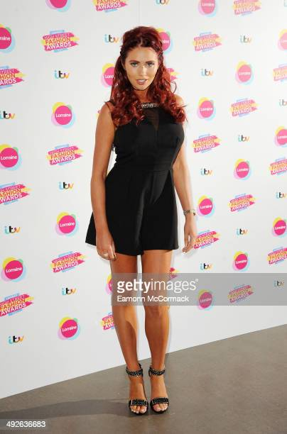 Amy Childs attends Lorraine's High Street Fashion Awards on May 21 2014 in London England