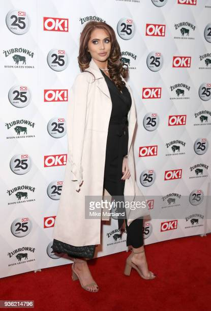 Amy Childs attends OK Magazine's 25th Anniversary Party at The View from The Shard on March 21 2018 in London England