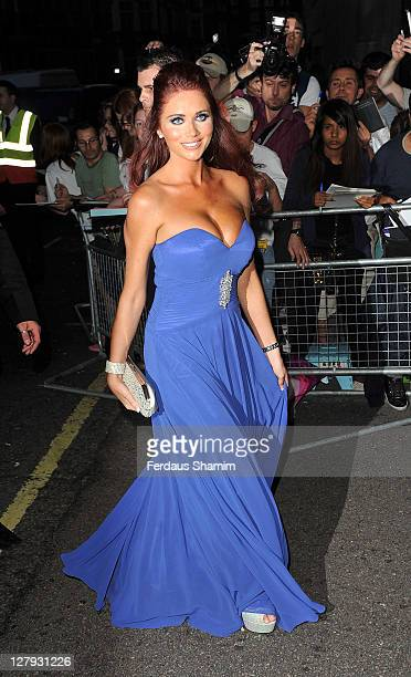Amy Childs attends Pride of Britain Awards at Grosvenor House on October 3 2011 in London England