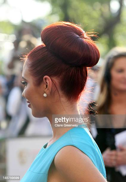 Amy Childs attends The Arqiva British Academy Television Awards 2012 at The Royal Festival Hall on May 27 2012 in London England