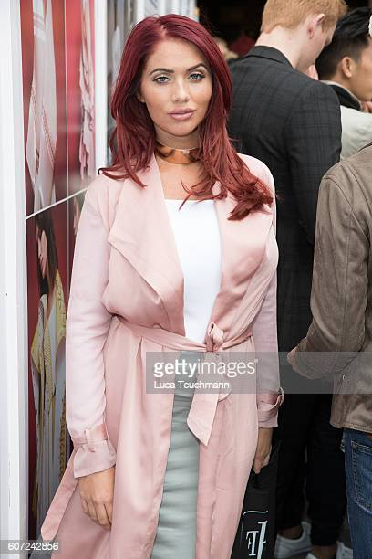 Amy Childs attends the Ashley Isham show during London Fashion Week Spring/Summer collections 2016/2017 on September 17 2016 in London United Kingdom