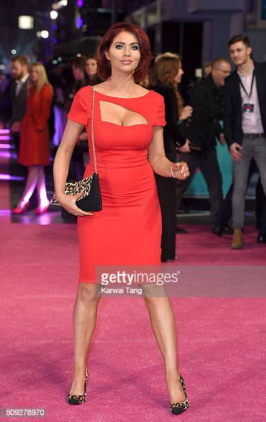 Amy Childs attends the European Premiere of 'How To Be Single' at the Vue West End on February 9 2016 in London United Kingdom