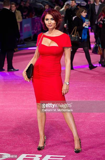 Amy Childs attends the European Premiere of 'How To Be Single' at Vue West End on February 9 2016 in London England