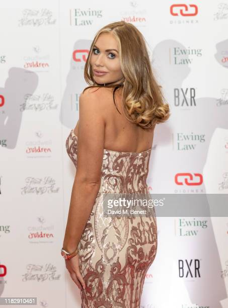 Amy Childs attends the Float Like A Butterfly Ball in aid of Caudwell Children at The Grosvenor House Hotel on November 16 2019 in London England