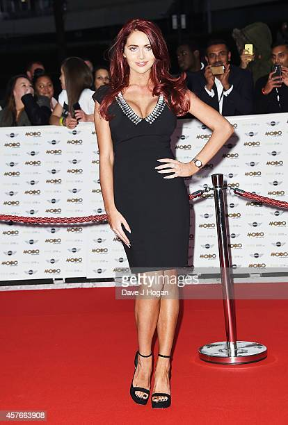 Amy Childs attends the MOBO Awards at SSE Arena on October 22 2014 in London England