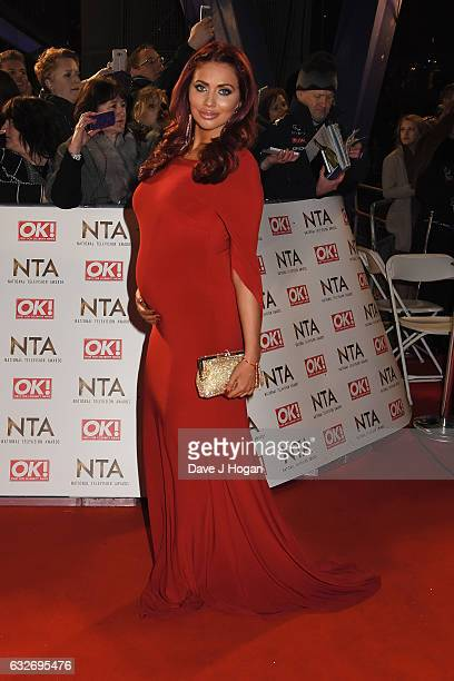 Amy Childs attends the National Television Awards at Cineworld 02 Arena on January 25 2017 in London England