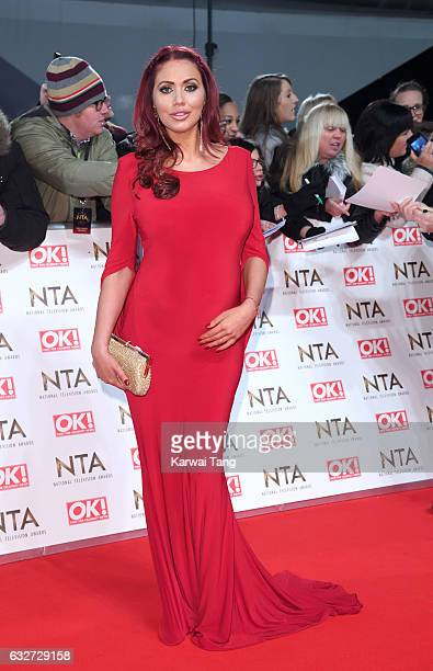 Amy Childs attends the National Television Awards at The O2 Arena on January 25 2017 in London England