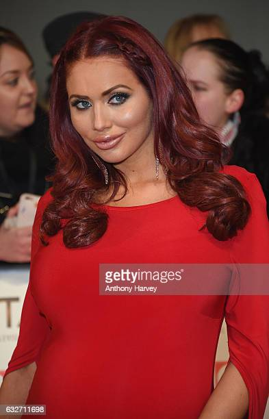 Amy Childs attends the National Television Awards on January 25 2017 in London United Kingdom