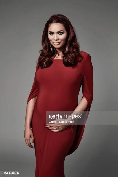 Amy Childs attends the National Television Awards Portrait Studio at The O2 Arena on January 25 2017 in London England