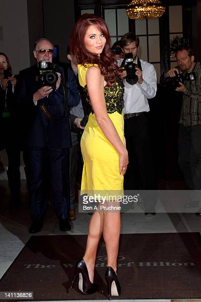 Amy Childs attends the Tesco Magazine Mum Of The Year 2012 at The Waldorf Hilton Hotel on March 11 2012 in London England