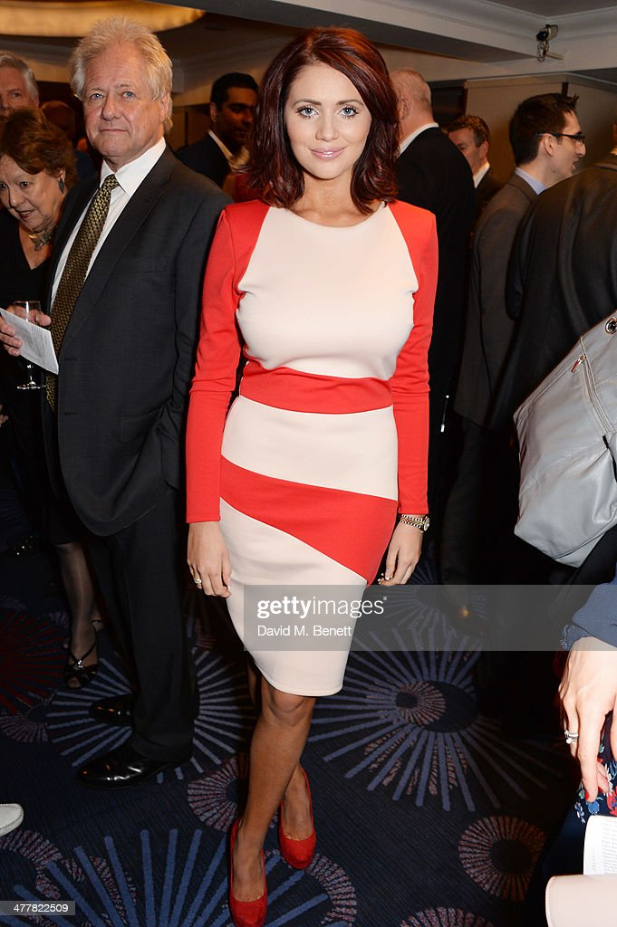 Amy Childs attends the TRIC Television and Radio Industries Club Awards at the Grosvenor House Hotel on 11, 2014 in London, England.