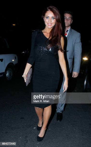 Amy Childs departs Ghost the Musical in aid of BBC Children in Need POP Goes the Musical at Piccadilly Theatre on September 14 2011 in London England