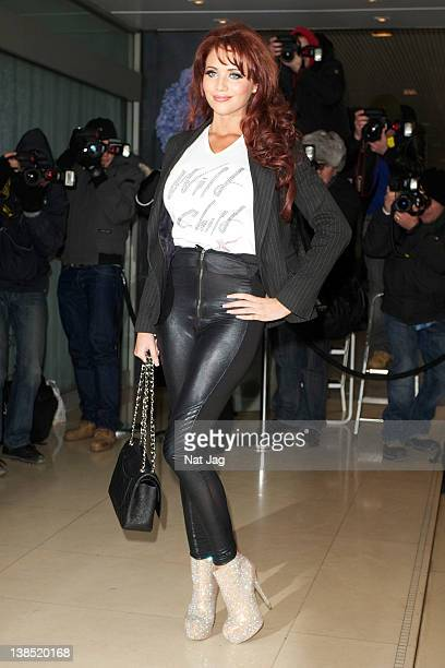 Amy Childs is seen attending the Kandee shoe collection launch at The Sanderson Hotel on February 8 2012 in London England