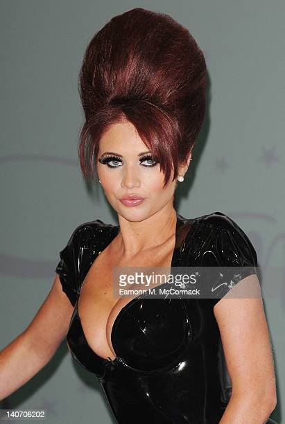Amy Childs launches her new eyelash collection 'Amy Childs' Lashes' on March 5 2012 in London England