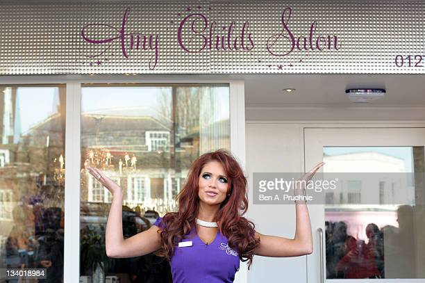 Amy Childs launches her salon at Unit 1 Wilsons Corner on November 24 2011 in Brentwood England