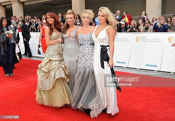 Amy Childs Lauren Goodger Lydia Bright and Sam Faiers arrive on the Red Carpet for The Philips British Academy Television Awards at Grosvenor House...