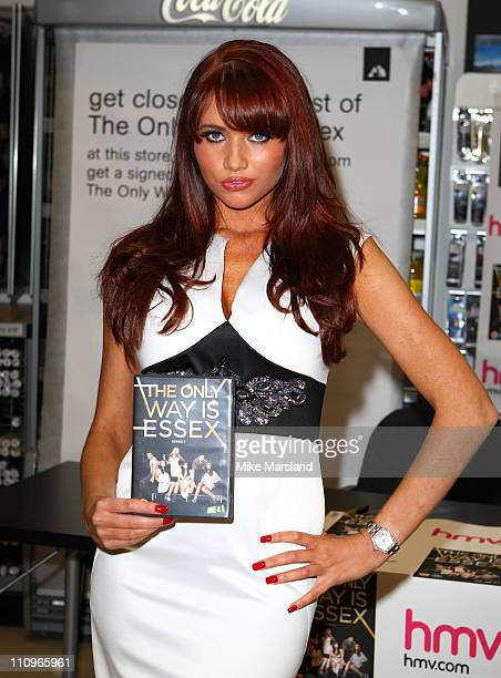Amy Childs promotes The Only Way is Essex DVD release at Lakeside Shopping Centre on March 28 2011 in Thurrock England