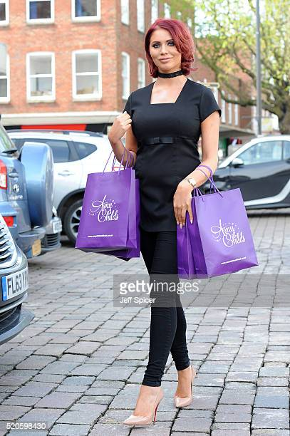 Amy Childs relaunches her Essex based Clinic at Unit 1 Wilsons Corner on April 12 2016 in Brentwood England