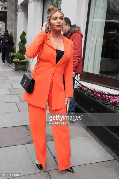 Amy Childs seen arriving for the TRIC Awards at Grosvenor House on March 10 2020 in London England