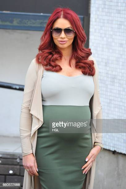 Amy Childs seen at the ITV Studios on March 30, 2017 in London, England.