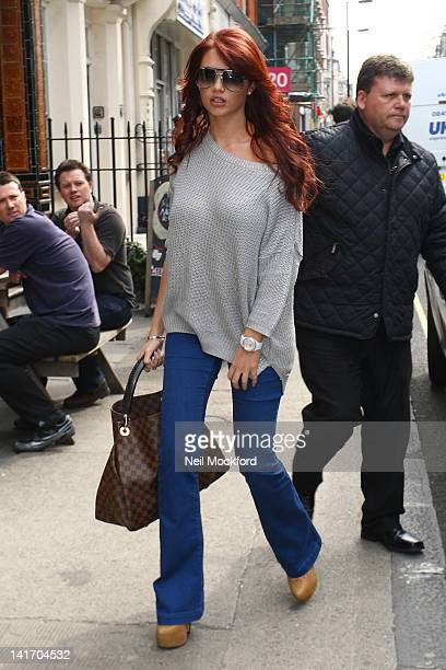 Amy Childs seen visiting a salon in West London on March 22 2012 in London England
